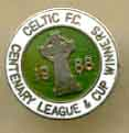 Celtic Centenary badges