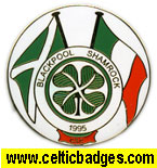 Blackpool Shamrock CSC error badge - No 824 (No 824)