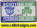 Peterhead v Celtic Scottish Cup tie 2011/12
