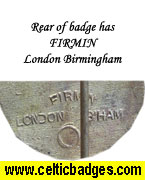 Rear of Firmin make badge