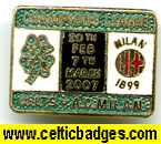 Celtic v AC Milan 3 set