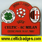 Celtic v AC Milan has Celtic Park on badge
