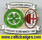 Celtic v AC Milan badge