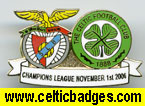 Benfica Celtic single badge