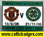 3 set Man U v Celtic matches