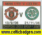 3 set Man U v Celtic