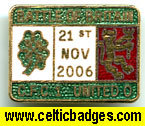 Battle of Britain Celtic v Man Utd - has score on badge  - 3 set