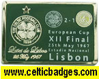 Lisbon 40th Anniv Celtic Shop pin badge